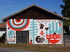 Steven Burke, Memphis Milano, Wall Murals, Wall Art, Art Et Illustration, Illustrations, Cap Ferret, Co Working, Decoration