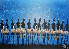 'Women's Business' by Tirikee an Australian Aboriginal artist from Wiradjuri tribe. (Acrylic)