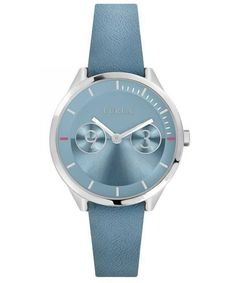 Features: Stainless Steel Case Leather Strap Quartz Movement Caliber: Mineral Crystal Light Blue Dial Analog Display Pull/Push Crown Solid Case Back Buckle Clasp Water Resistance Approximate Case Diameter: Approximate Case Thickness: Furla, Stainless Steel Case, Italian Leather, Jewelry Watches, Light Blue, Quartz, Crown, Formal Dress, Mineral