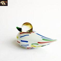 Hand Blown Murano Glass Animal Birds