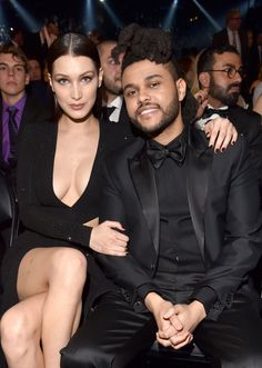 The Weeknd & Bella Hadid from Grammys 2016 Candid Moments Model and singer certainly do make a nice-looking couple! Img Models, Celebrity Couples, Celebrity Photos, Celebrity Style, Bella Hadid Estilo, Jaxon Bieber, Justin Bieber, Abel And Bella, Kj Apa Riverdale