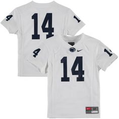 b3c0706aa400  14 Penn State Nittany Lions Nike Toddler Replica Football Jersey - White