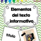 This is a set of SPANISH non-fiction text feature picture and word cards. They are geared towards the primary grades. I created these using first g...