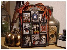 iGirlZoe - Tim Holtz Matchbox Halloween Collage; Oct 2014