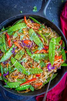 A quick and easy Asian inspired dinner packed with veggies, chickpeas and flavor! These sesame ginger noodles are one of my new favorite dinners! I've been making a similar dinner for years now, but always used a bottled stir fry sauce since I figured it would be too complicated to make my own. But, it …