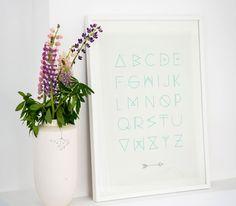Alfabet poster - sand from shelf/life via The Third Row