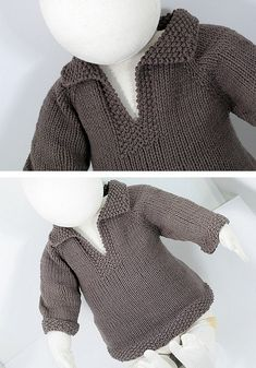 Baby Sweater Patterns, Baby Cardigan Knitting Pattern, Baby Boy Knitting, Baby Clothes Patterns, Baby Knitting Patterns, Knitting Stitches, Free Knitting, Clothing Patterns, Baby Knits