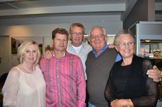 Maragret, Todd Whisson, WR Allen,Louis and Ruby. Opening night at Red Hill Gallery, Brisbane