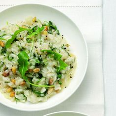 Slow-Cooker Pinenut, Fennel and Parmesan Risotto - The Happy Foodie Parmesan Risotto, Vegan Keto, Vegetable Stock, Arugula, Fennel, Keto Recipes, Slow Cooker, Meals, Dishes