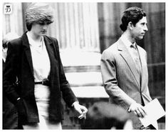 June 12, 1981:Prince Charles & his fiance, Lady Diana Spencer leaving St. Paul's Cathedral after a wedding rehearsal.