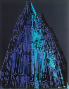 Cologne Cathedral, c.1985 (Blue) Print by Andy Warhol at Art.com