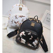 новый девочка кожи школы сумка путешествий милый рюкзак сумка женская через плечо рюкзак