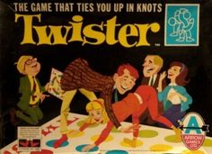 Before twister became synonymous with student parties, it was played by lovely happy families wearing tweed jackets