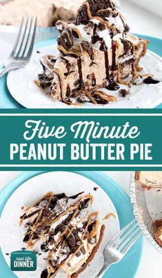 Over the top Peanut butter, Oreo, Cheesecake goodness. So rich and delicious. And best news ever, it only takes five minutes to make this delicious pie, ~ http://reallifedinner.com