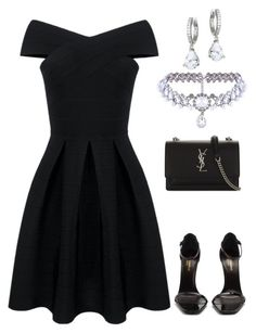 """""""Look 7"""" by tarsila-estrela on Polyvore featuring Yves Saint Laurent, WithChic and Kate Spade"""