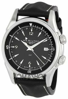 Hamilton Men's H32615835 Jazzmaster GMT Traveler Black Dial Watch Hamilton. $996.00. Case diameter: 43 mm. Automatic movement. Water-resistant to 660 feet (200 M). Stainless-steel case. Durable sapphire crystal. Save 17%!
