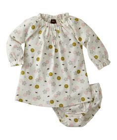 Take a look at this Milk Tori Shirred Dress & Diaper Cover - Infant by Tea Collection on #zulily today!