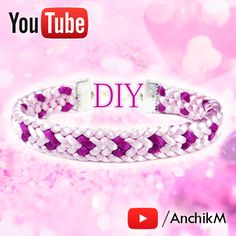 Kumihimo HEART bracelet tutorial DIY