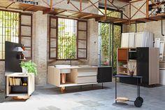 FLOAT modular kitchen designed by Alberto Sanchez for Mut Design.