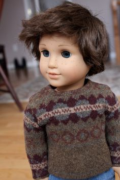 CHECK OUT MY NEW CUSTOM AGs BOARD :) https://www.pinterest.com/rsadams68/beautiful-custom-american-girl-dolls/ Idk which is cuter: the boy doll or the sweater. Theo (Nellie w/ freckles y a custom wig) From Clarisse's Closet