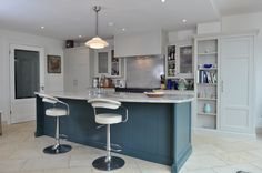 Inchyra Blue, Glazed Walls, Blue Bar, Bespoke Kitchens, Complimentary Colors, Joinery, Open Shelving, Kitchen Furniture, Woodworking