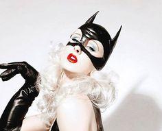 Black Latex Hood Latex Cosplay Half Hood Costume Mask #Catwoman #DcVillian #DcComics #DC #Gotham #GothamGirls #BatShitCrazy #ArkhamAsylum #Lunatic #Insane #KillerFashion #Meow #Halloween #HalloweenCostume #HalloweenMakeup #Cosplay #DIY #DIYCostume
