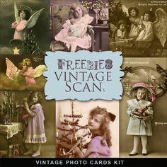 New Freebies Vintage Christmas Photo Kit