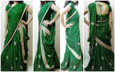 7 Different Ways to Drape Lehenga Dupatta photo.. with instructions on draping.. Love it. must check