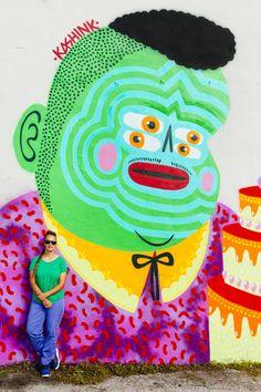 KASHINK, l'une des rares femmes street artist qui porte la moustache sort son premier livre !