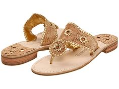 Jack Rogers Napa Valley Navajo Flat Cork/Gold Stitching - Zappos.com Free Shipping BOTH Ways