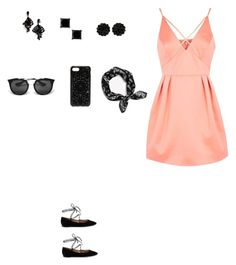 """Untitled #257"" by selise-miles on Polyvore featuring Topshop, Gianvito Rossi, Oscar de la Renta, Felony Case, rag & bone and Prada"