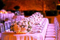 White flowers capture the light like no others. Wedding by Monte-Carlo Weddings