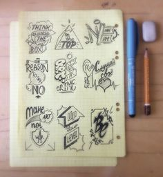Motivation doodles. Lettering. Art.