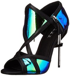 L.A.M.B. Women's Excite Dress Sandal, Blue/Black