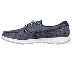 Skechers Women's GOwalk Lite Isla Boat Shoes (Navy/Navy)