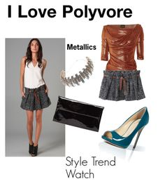 """""""Style Trend Watch"""" by nessa-stylista ❤ liked on Polyvore featuring Vivienne Westwood Anglomania, Thakoon, Giuseppe Zanotti, Maison Margiela, CA&LOU, thakoon pleated short skirt and vivienne westwood metallic blouse"""