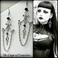 Hey, I found this really awesome Etsy listing at https://www.etsy.com/listing/189226934/gothic-ankh-dangle-crystal-earrings