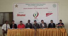 Former Captain Pakistan - Moin Khan addressing in Press briefing for Shama Disabled T-20 Pentagular Cup 2016 at National Stadium, Karachi. He promised fully support to Disabled Cricketer of Pakistan.  Watch Full Video: http://goo.gl/Z4KX0w