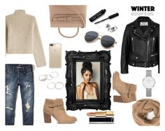 """""""WINTER Essentials"""" by maynardbae ❤ liked on Polyvore featuring Acne Studios, Sole Society, Rosetta Getty, Hollister Co., Alexander Wang, Daniel Wellington, Speck, Bobbi Brown Cosmetics and Chanel"""