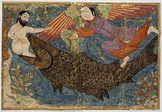 This Islamic rendition of Jonah and the Whale may reflect a now-lost wall painting tradition.