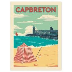 "Affiche Capbreton ""Estacade"""