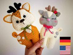 Crochet pattern cute deer. by Fuchsgeschwister on Etsy https://www.etsy.com/listing/601200400/crochet-pattern-cute-deer