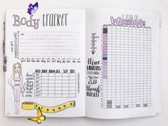5 Free Printable Bullet Journal Weight Loss Pages ⋆ The Petite Planner  <br> Conquer your health and fitness goals with these 5 free printable bullet journal weight loss pages. Track your overall weight loss, measurements, workouts and...