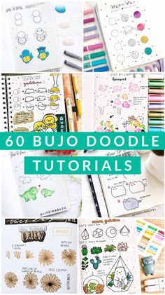 This is a massive list of bullet journal doodle tutorials to give you ideas and inspiration for your bujo doodles and drawings. Bullet Journal Police, Bullet Journal Layout, Bullet Journal Inspiration, Bullet Journals, Bullet Journal Numbers, Beginner Bullet Journal, Bullet Journal Doodles Ideas, Bullet Journal Ideas Templates, Bullet Journal Hacks