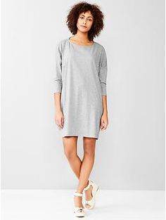 Size: Small Color: Heather Grey and Blue Available online Relaxed T-shirt dress