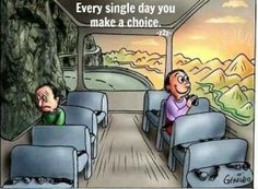 Which side of the bus will you sit on today?