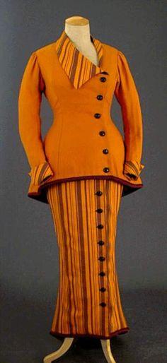 Période : Poiret  Mode : Silhouette Poisson  Année : 1910-1918.