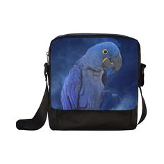 Hyacinth Macaw Crossbody Nylon Bag. FREE Shipping. #artsadd #bags #parrots