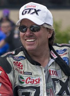 john force, met John when I was managing MMP he was then as he is now a wild man no fear for sure.