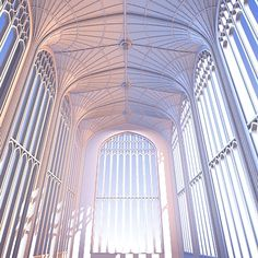 Fan vaulting in King's College Chapel, University of Cambridge. Late Gothic (1532)